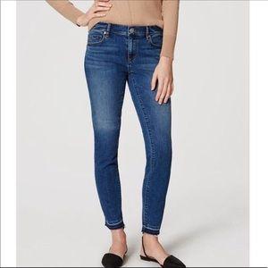 Loft modern skinny raw hem jeans